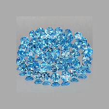 5mm Lot 50pc Round Natural Swiss Blue TOPAZ