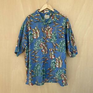 Reyn Spooner Men's Hawaiian Shirt - XL - Summer Hawaii Floral - Blue