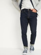 NEW Old Navy Skinny Built In Flex Jeans Men's 40X32 NWT $40 Blue Dark Rinse Wash