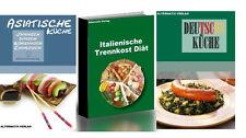 3 libros electrónicos, italiana trennkost dieta cocina asiática cocina alemana reseller