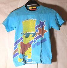 The Simpsons Bart Simpson Super Star Kinder T-Shirt Hellblau Größe 128