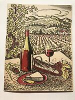 1940's Andre's Sans-Souci Restaurant Menu w/ Beautiful Wine and Cheese Cover