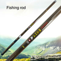 3.6m-6.3m Carbon Stream Hand Pole Telescopic Spinning Freshwater Fishing Rod