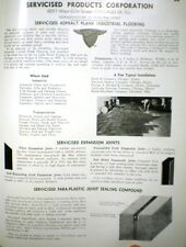 Servicised Products ASBESTOS ASPHALT Tile Catalog 1944