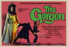 """THE GORGON 1964 repro UK quad poster 30x40"""" Hammer Horror Christopher Lee FreePP"""