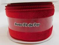 Celebrate It Christmas Ribbon Wired Red Velvet 2 1/2 in x 5 Yd New
