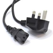 Dell 16583 UK 3 Pin Plug Power Cord Black IEC C13 Kettle Style Lead 1.8m