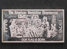 1971 Kennedy Mint Our Flag is Born Silver Art Bar KEN-33 P1697