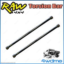 "Nissan Navara D22 4WD RAW Front Torsion Bars Increased Rate 2"" 0-40mm Lift"
