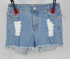 BUI-YAH-KAH High Waist Distressed Denim Shorts Sz 3