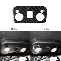 For Ford Mustang 2015-2019 Carbon Fiber Reading Light Control Panel Trim Cover