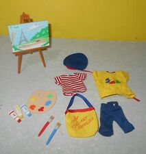 """Madeline 8"""" Doll Play Adventure Set Artist Learning Curve w/ Outfit Easel Paints"""