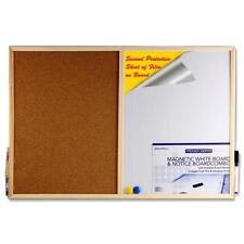 MAGNETIC WHITEBOARD & MEMO NOTICE BOARD CORKBOARD ORGANISER PLANNER NEW