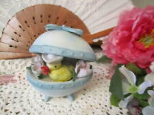 Easter Egg Figurine with Duck Collectible Decorative Figurine