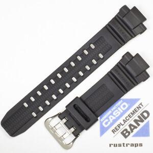 CASIO black rubber watch band G-1000, G-1100, G-1200, G-1500, GW-3000, 10287236