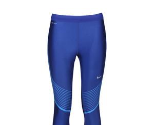 Nike Women's Power Speed Running Tight Capri Compression 801694 457 S /  M