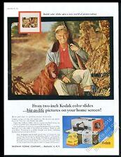 1957 Irish Setter and hunter photo Kodak Pony 135 camera vintage print ad