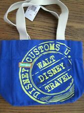 "Cute Disneyland Resort ""Walt Disney Travel"" Blue Canvas Bag - New With Tags"