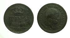 pci3263) Napoli Regno delle Due Sicilie Francesco I - 5  tornesi 1827 gig 16b R