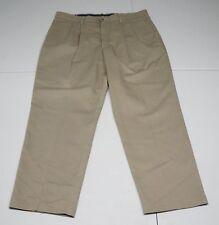 Dockers Mens 40X30 Beige Cotton Pleated Classic Fit Khaki Pants
