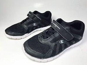 CHAMPION Toddler Boys Kids Athletic Running Shoes Sneakers Sz 9.5 Black Slip On