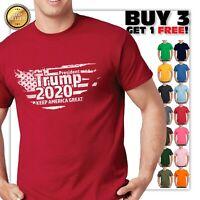 President Trump 2020 Keep American flag Great Political T Shirt Graphic Tee