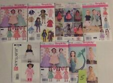 Lot of 7 American girl doll clothes patterns fits 18 in doll new and uncut #5