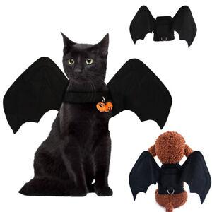 Black Halloween Dress Up Bat Wings Spider Hat Clown Pet Dog Cat Costume Outfit