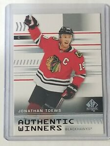 2019-20 UD SP Authentic Jonathan Toews Authentic Winners SP 🔥