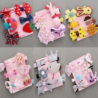 6Pcs/set Kids Infant Baby Girl Hair Clip Bow Flower Cartoon Hairclip Hairpin POP