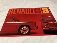 Renault 8 R8 catalogue prospectus brochure dépliant automobile publicité
