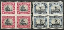 Doyle's_Stamps:  VF 1925  Norse-American Blocks, Scott #620** & #621**    (WL10)
