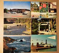 California CA Postcard Lot 6 Trinidad Mendocino Klamath Marin Eureka Muir Woods