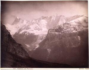 Faulhorn Mountain Alps Switzerland Bern albumen photo 1890c George Sommer L634
