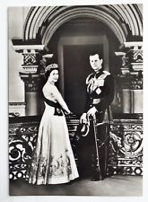 c1960 B/W Postcard. Queen Elizabeth II & Prince Philip, Duke of Edinburgh