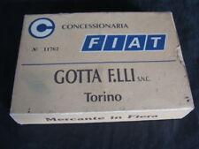 CARTE DA GIOCO FIAT CONCESSIONARIA GOTTA TORINO CON AUTO D'EPOCA VINTAGE