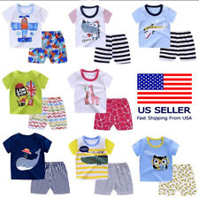 Set of 2 Top/Short For Toddlers Baby Outfit Clothing Cartoons Cotton Lightweight