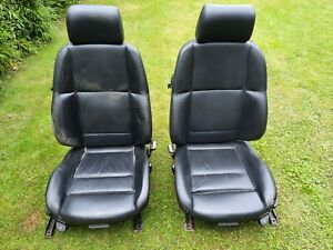 GENUINE BMW E36 M3 CONVERTIBLE FRONT SEATS IN BLACK LEATHER
