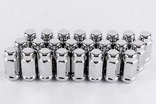 """Set 24 Chrome Bulge Lug Nuts 14mm x 2.0 Fits Ford F150 2004-2014 1.9""""Tall W1042L"""