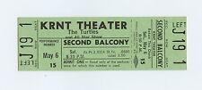 The Turtles Buffalo Springfield Robbs Ticket 1967 May 6 Des Moines Iowa Unused