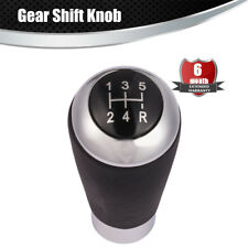 Universal 5 Speed Manual Gear Shift Knob Leather Shifter Lever Lether Black
