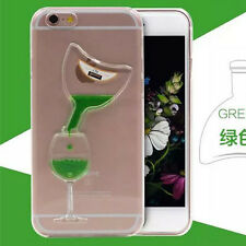 Liquid Red Wine Cup Bling Clear 3D Phone Case Cover Skin For Apple 5 5S 6 6Plus