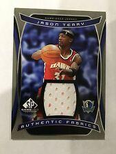 JASON TERRY GAME USED JERSEY INSERT ATLANTA HAWKS 2004 SP BASKETBALL CARD