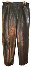 Black Leather Pants Sz 34 Waist 100% Genuine Leather Pants