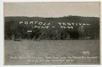 1909 San Francisco CA Portola Festival Sign Yerba Buena Isla Vintage Postcard