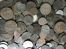 10 Low Grade Old World Coins / 1700s 1800s / A Part of History! / Antique Money