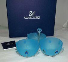 Swarovski Crystal JEWELS BOWL SET BLUE 697058 9600 019 New NIB Box+Certificate