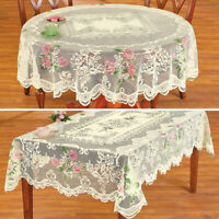 Christmas Vintage Lace Tablecloth Dining Table Cover Cloth Wedding Party Decor