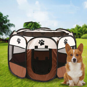 Fence Playpen Portable Pet Tent Cat Dog House Pet Delivery Room Octagonal Cage