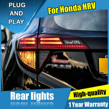 For Honda HRV VEZEL Dark / Red LED Rear Lamps Assembly LED Tail Lights 2016-2018